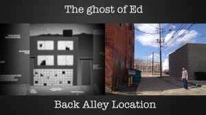 This is the alley from the building In the ghost of ed Cartoon